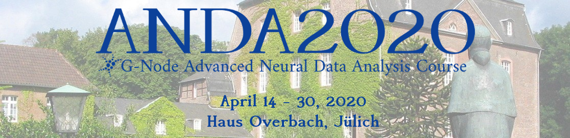 G-Node Advanced Neural Data Analysis Course 2020